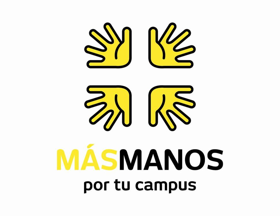 Logo + Manos por tu campus low