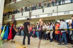 Alumnos de la preparatoria Politécnida participaron en la inauguración